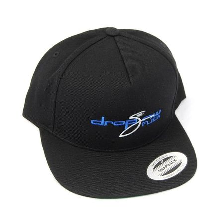 Drop Jaw Black Snap Back Flat Bill