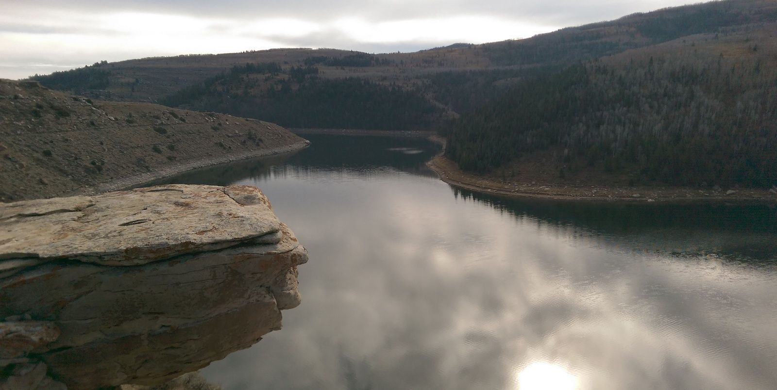 Mountain Reservoir Landscape